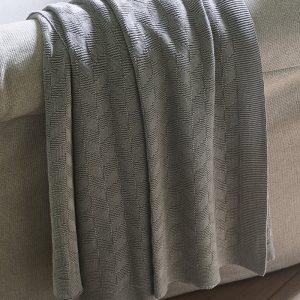 Riviera Maison  Pure Pleasure Throw – Plaid – 170×130 – grijs – katoen