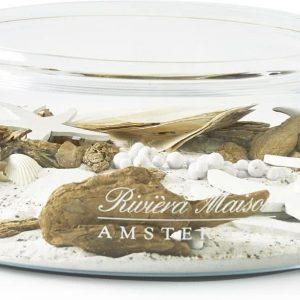 Riviera Maison – RM Amsterdam Glass Bowl – Decoratieve schaal – Transparant – Glas – rond