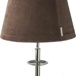 Riviera Maison RM Velvet Lamp shade Café Noir – Lampenkap – 28 x 38 cm – Bruin – Wol