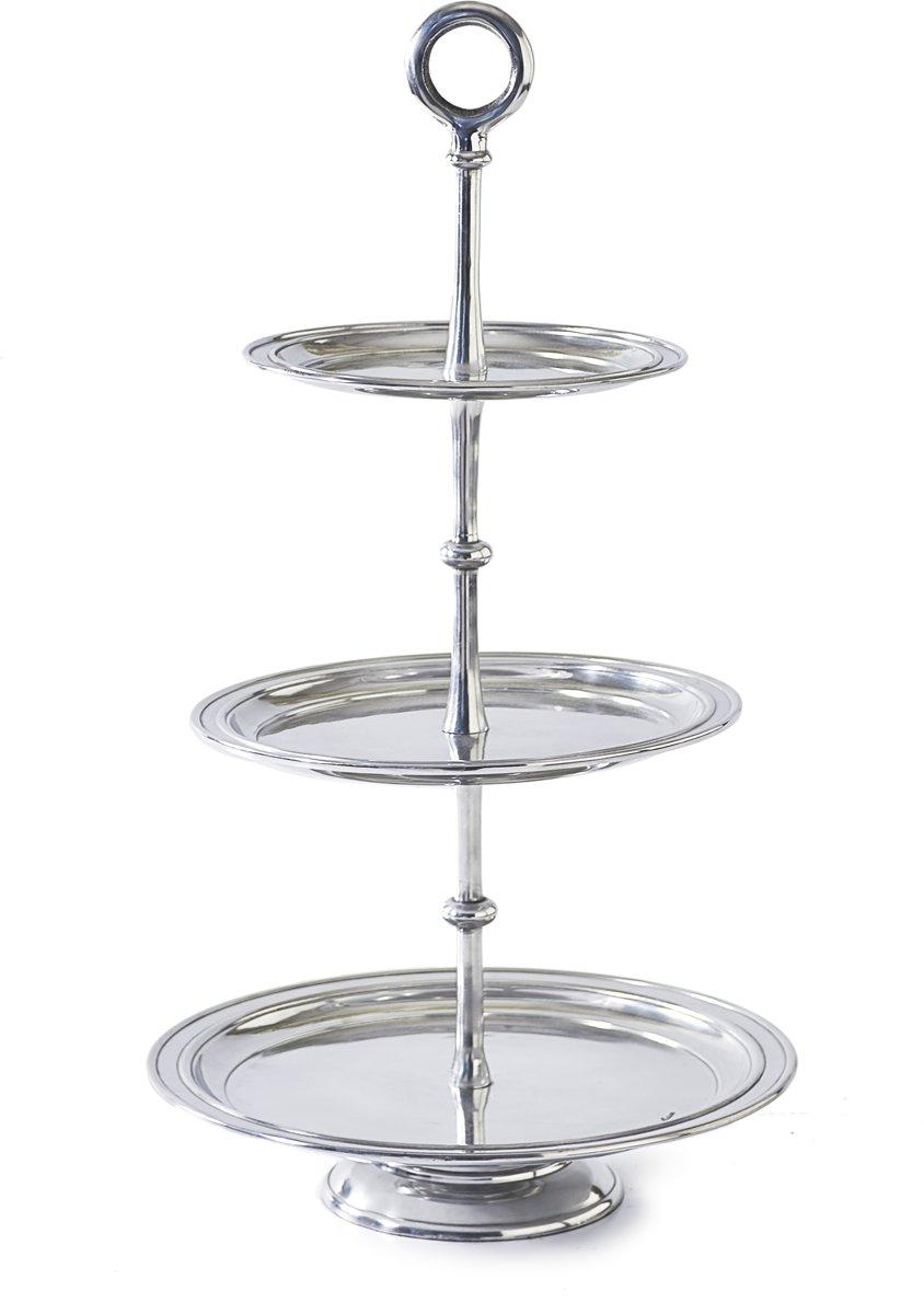 Riviera Maison – Rothchild  – Etagère – Decoratief dienblad – Zilver – Aluminium