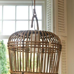 Riviera Maison – San Carlos Hanging Lamp S – Hanglamp – Naturel – Rattan