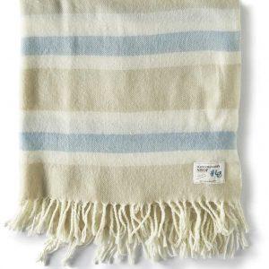 Riviera Maison Summer Classic Stripe Throw – Plaid – 170×130 – zand/blauw/wit