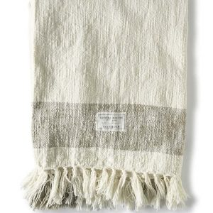 Riviera Maison Summer Shore Throw flax  – Plaid – 170×130 cm – zand/beige