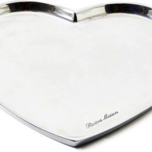 Riviera Maison – Sweetheart Decoration Tray L – Decoratieve schaal – zilver – Aluminium