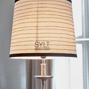 Riviera Maison Sylt Salty Lampshade  – Lampenkap – creme/zwart – 35×30 cm