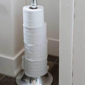 Riviera Maison Toilet Roll Holder – Toiletrolhouder – Zilverkleurig