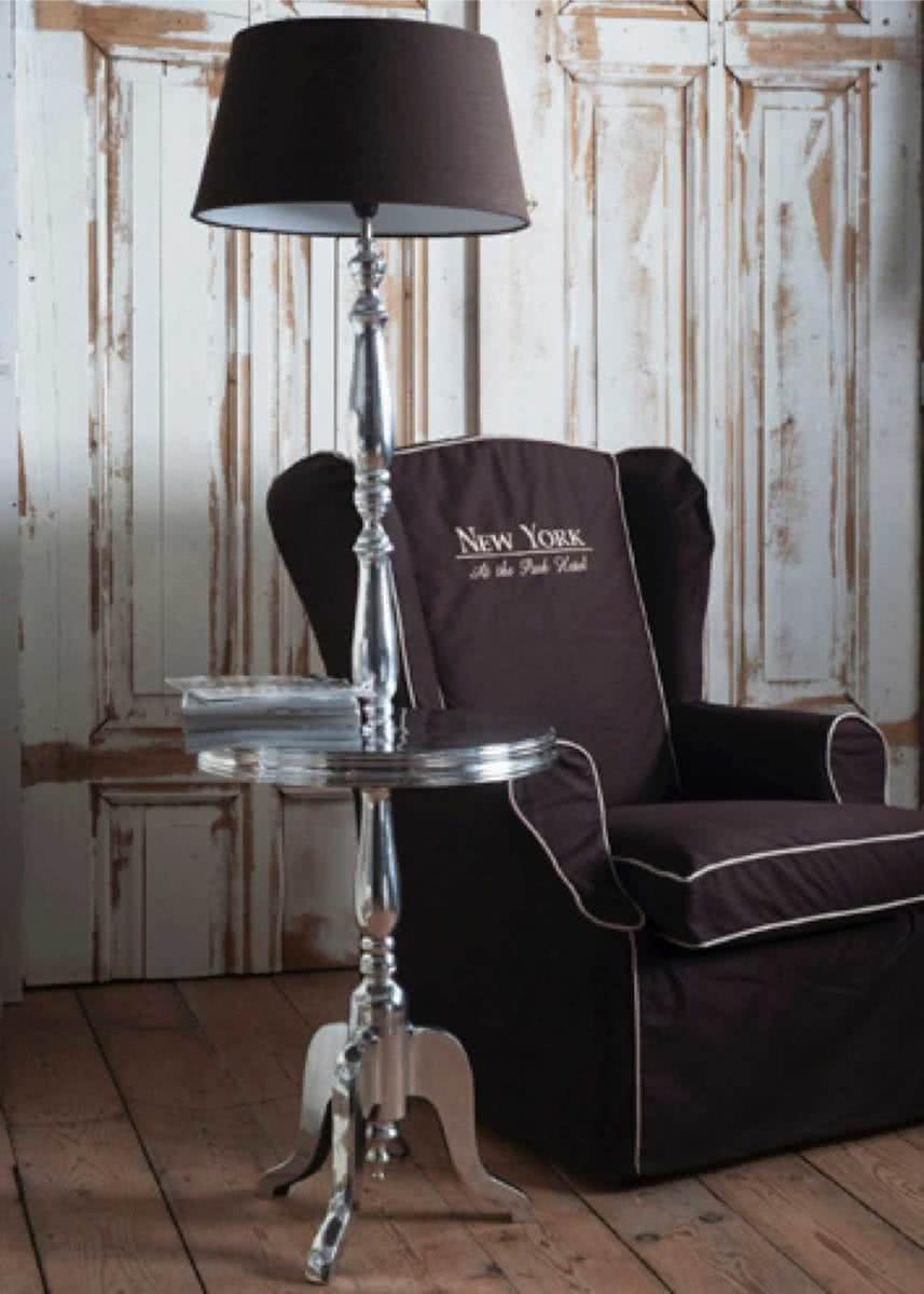 Riviera Maison Winston Winetable with Lamp – Staande Lamp – Aluminium
