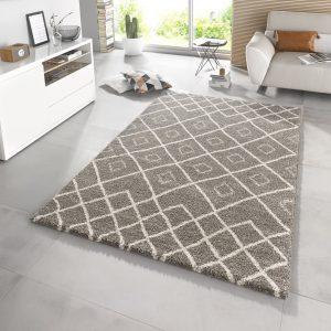 Symmetrisch Vloerkleed Maison – Taupe Crème 160 x 230 cm